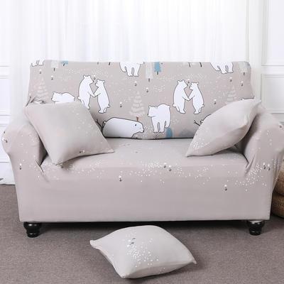 【总】2019款 卡通沙发套美式全包万能沙发套沙发罩沙发巾沙发垫通用型 抱枕含芯【45*45】一只 北极熊