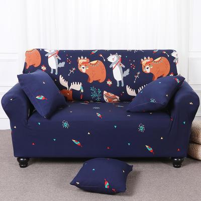 【总】2019款 卡通沙发套美式全包万能沙发套沙发罩沙发巾沙发垫通用型 抱枕含芯【45*45】一只 挪威森林