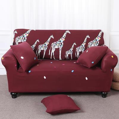 【总】2019款 卡通沙发套美式全包万能沙发套沙发罩沙发巾沙发垫通用型 抱枕含芯【45*45】一只 三口之家