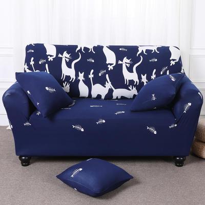【总】2019款 卡通沙发套美式全包万能沙发套沙发罩沙发巾沙发垫通用型 抱枕含芯【45*45】一只 时尚猫咪