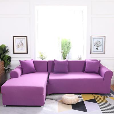 【总】2019款  全包万能沙发套组合沙发罩沙发巾沙发垫通用型 抱枕含芯【45*45】一只 紫色