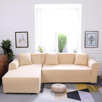 【总】2019款  全包万能沙发套组合沙发罩沙发巾沙发垫通用型 抱枕含芯【45*45】一只 米黄