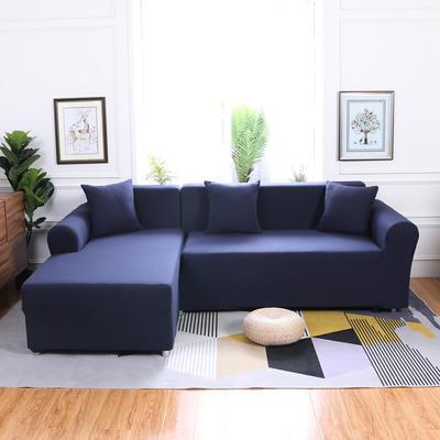 【总】2019款  全包万能沙发套组合沙发罩沙发巾沙发垫通用型 抱枕含芯【45*45】一只 藏青