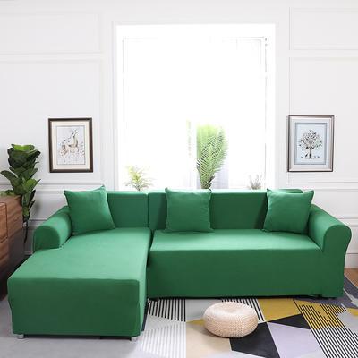【总】2019款  全包万能沙发套组合沙发罩沙发巾沙发垫通用型 抱枕含芯【45*45】一只 墨绿