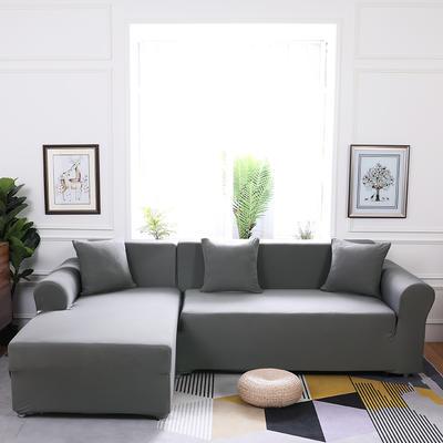 【总】2019款  全包万能沙发套组合沙发罩沙发巾沙发垫通用型 抱枕含芯【45*45】一只 银灰