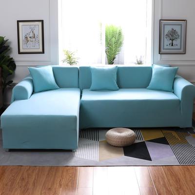 【总】2019款  全包万能沙发套组合沙发罩沙发巾沙发垫通用型 抱枕含芯【45*45】一只 天蓝
