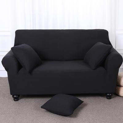 【总】2019款全包万能沙发套美式组合沙发罩沙发巾沙发垫通用型 抱枕含芯【45*45】一只 黑色