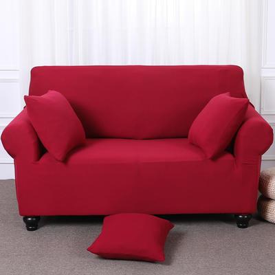 【总】2019款全包万能沙发套美式组合沙发罩沙发巾沙发垫通用型 三人190-230 酒红