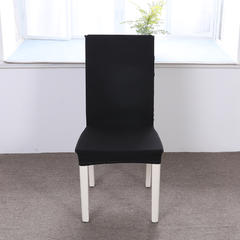【总】2018纯色弹力连体椅套椅垫沙发套 黑色