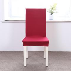 【总】2018纯色弹力连体椅套椅垫沙发套 酒红