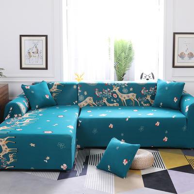 【总】2019款 卡通组合式沙发套美式全包万能沙发套沙发罩沙发巾沙发垫通用型 抱枕含芯【45*45】一只 快乐小象