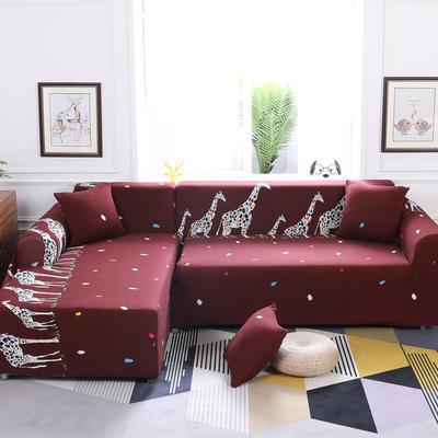 【总】2019款 卡通组合式沙发套美式全包万能沙发套沙发罩沙发巾沙发垫通用型 抱枕含芯【45*45】一只 三口之家