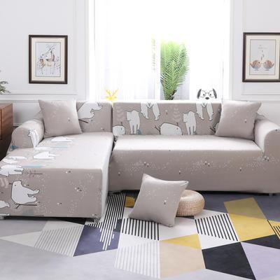 【总】2019款 卡通组合式沙发套美式全包万能沙发套沙发罩沙发巾沙发垫通用型 抱枕含芯【45*45】一只 北极熊
