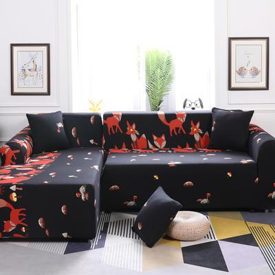 【总】2019款 卡通组合式沙发套美式全包万能沙发套沙发罩沙发巾沙发垫通用型 抱枕含芯【45*45】一只 黑夜精灵