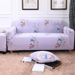 2018新款专版版权印花全包万能沙发套沙发罩 三人沙发长度190-230cm 一枝独秀