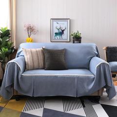 2018新款竹节麻双人沙发巾沙发垫沙发罩沙发套 抱枕套45*45cm 灰韵