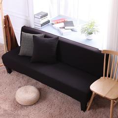 2018新款美人条沙发床套沙发套沙发罩沙发垫套 单人 黑棕