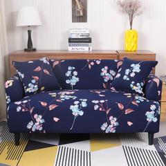 2018新款专版版权印花全包万能沙发套沙发罩 双人145-185 爱慕
