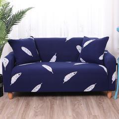 布兰鸟 2018款专版印花沙发套万能套沙发巾沙发罩沙发垫 同色抱枕套【45*45一只】 羽叶情丝