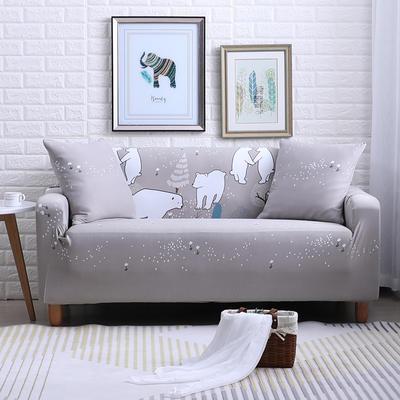 2018款—布兰鸟家纺万能全包沙发套沙发罩沙发垫沙发巾 同色抱枕【45*45一只】 北极熊