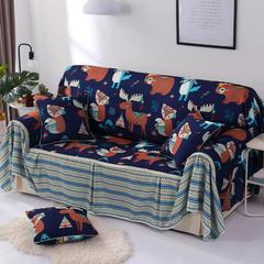 2018新款-双面防水数印沙发套沙发罩沙发巾沙发垫 同色45*45抱枕套一只(不含芯) 挪威森林