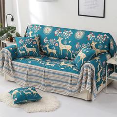2018新款-双面防水数印沙发套沙发罩沙发巾沙发垫 同色45*45抱枕套一只(不含芯) 幸福一家