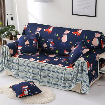 2018新款-双面防水数印沙发套沙发罩沙发巾沙发垫 四人沙发座罩215*350cm 音乐晚会