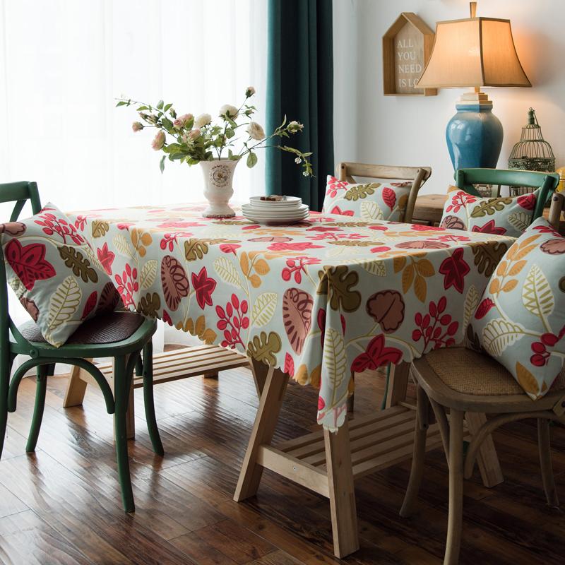 布兰鸟家纺2019款—美式印花双面防水桌布台布餐桌布