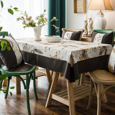 布兰鸟家纺2019新款—棉麻桌布台布餐桌布 90*90cm 北卡