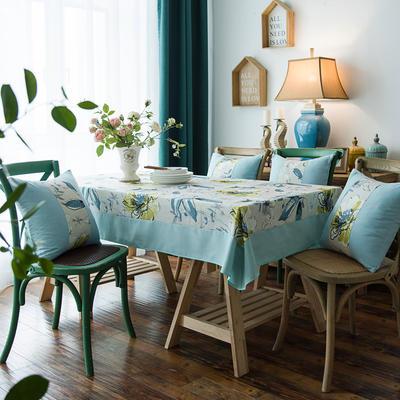 布兰鸟家纺2019新款—棉麻桌布台布餐桌布 90*90cm 卡萨布兰