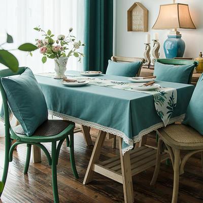 布兰鸟家纺2019新款—纯色棉麻桌布台布餐桌布 90*90cm 北美风情