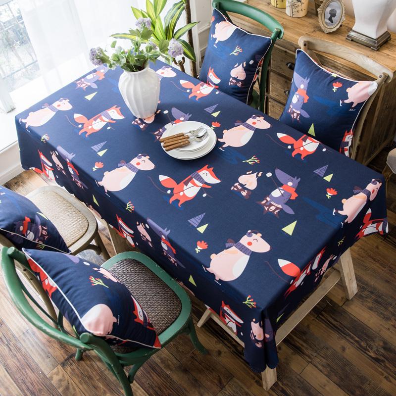 2019款双面防水数码印染桌布台布餐桌布茶几布餐厅酒店