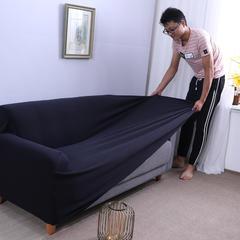 布兰鸟家纺—2018新款加厚美芙条高端沙发套沙发罩沙发巾沙发垫 抱枕套【50*50一只】 美芙条-藏青
