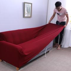 布兰鸟家纺—2018新款加厚美芙条高端沙发套沙发罩沙发巾沙发垫 抱枕套【50*50一只】 美芙条-酒红