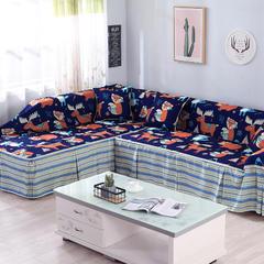 2018新款卡通防水数码印染组合沙发巾沙发套沙发罩通用型 单人沙发座套215*200cm 挪威森林防水沙发巾