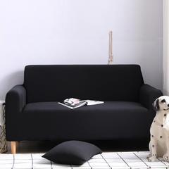 2019新款全包万能沙发套沙发罩沙发巾沙发垫沙发布 抱枕套【45*45一只】 纯色-黑色