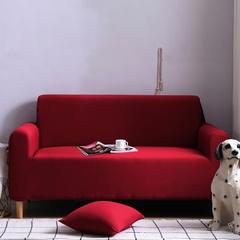 2019新款全包万能沙发套沙发罩沙发巾沙发垫沙发布 抱枕套【45*45一只】 纯色-酒红