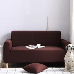 2019新款全包万能沙发套沙发罩沙发巾沙发垫沙发布 抱枕套【45*45一只】 纯色-咖啡