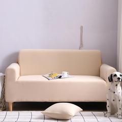 2019新款全包万能沙发套沙发罩沙发巾沙发垫沙发布 抱枕套【45*45一只】 纯色-米黄