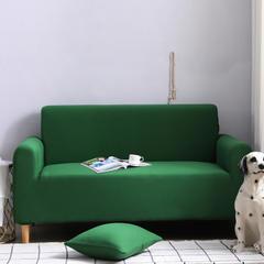2019新款全包万能沙发套沙发罩沙发巾沙发垫沙发布 抱枕套【45*45一只】 纯色-墨绿