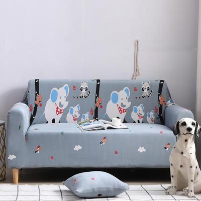 2019新款全包万能沙发套沙发罩沙发巾沙发垫沙发布 三人190-230cm 卡通-快乐小象