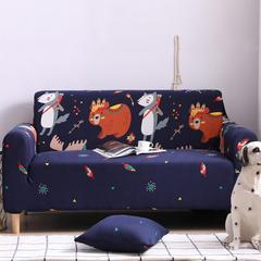 2019新款全包万能沙发套沙发罩沙发巾沙发垫沙发布 抱枕套【45*45一只】 卡通-挪威森林