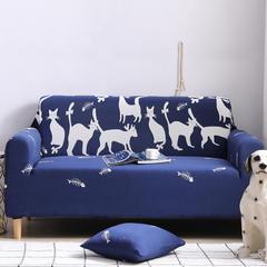 2019新款全包万能沙发套沙发罩沙发巾沙发垫沙发布 抱枕套【45*45一只】 卡通-时尚猫咪