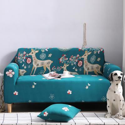 2019新款全包万能沙发套沙发罩沙发巾沙发垫沙发布 三人190-230cm 卡通-幸福一家