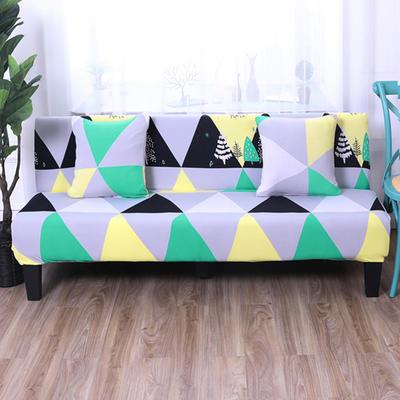 【总】2019款 专用沙发床套全包万能套风格2 抱枕含芯【45*45】一只 印花-几何印象