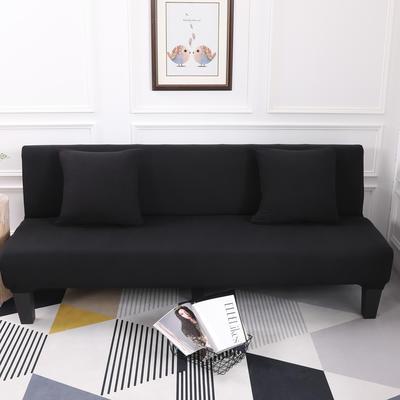 【总】2019款 专用沙发床套全包万能套风格2 抱枕含芯【45*45】一只 纯色-黑色