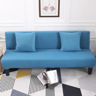 【总】2019款 专用沙发床套全包万能套风格2 抱枕含芯【45*45】一只 纯色-湖蓝