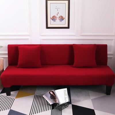 【总】2019款 专用沙发床套全包万能套风格2 抱枕含芯【45*45】一只 纯色-酒红