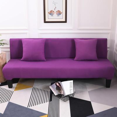 【总】2019款 专用沙发床套全包万能套风格2 抱枕含芯【45*45】一只 纯色-紫色