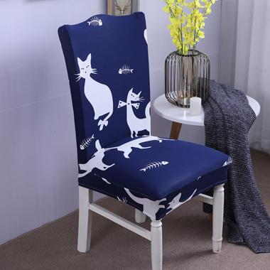 【总】2019弹力连体椅套椅垫椅子套沙发套 卡通-时尚猫咪